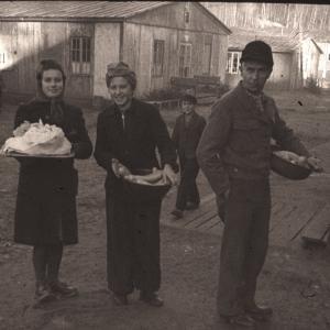 Flygtninge i kø til køkkenet